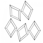 Box of 30 Diamond Bevels 1 3/4x3