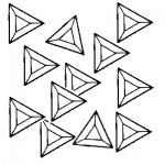 Box of 30 Triangle Bevels 2 inch