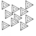 Box of 30 Triangle Bevels 3 inch