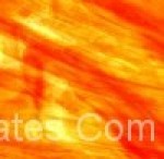 Red Orange clear Wispy 10.5x14