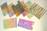Dichroic 1 pound Scrap Textured Standard thickness on Clear 96