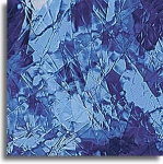 Blue Art Glass 6x8