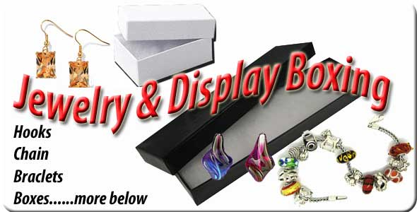 Glass jewelry supplies and gift boxing from Nickates