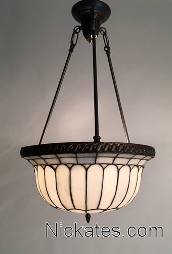 Tiffany lamp repairs by Nickates