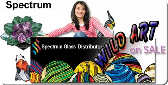 Spectrum stained glass distributor Nickates.com