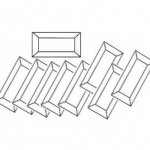 Box of 30 Rectangle Bevels 2x8
