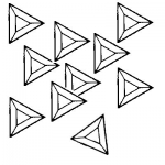 Box of 30 Triangle Bevels 4 inch