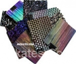 Dichroic 1/4 pound Scrap Standard thickness on Black 96